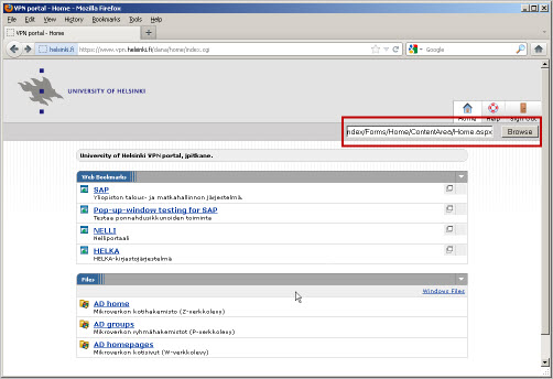 VPN portal as a proxy serv | Helpdesk