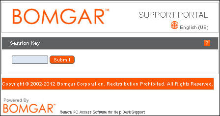 Remote support service Bomgar (Internet Explorer) | Helpdesk