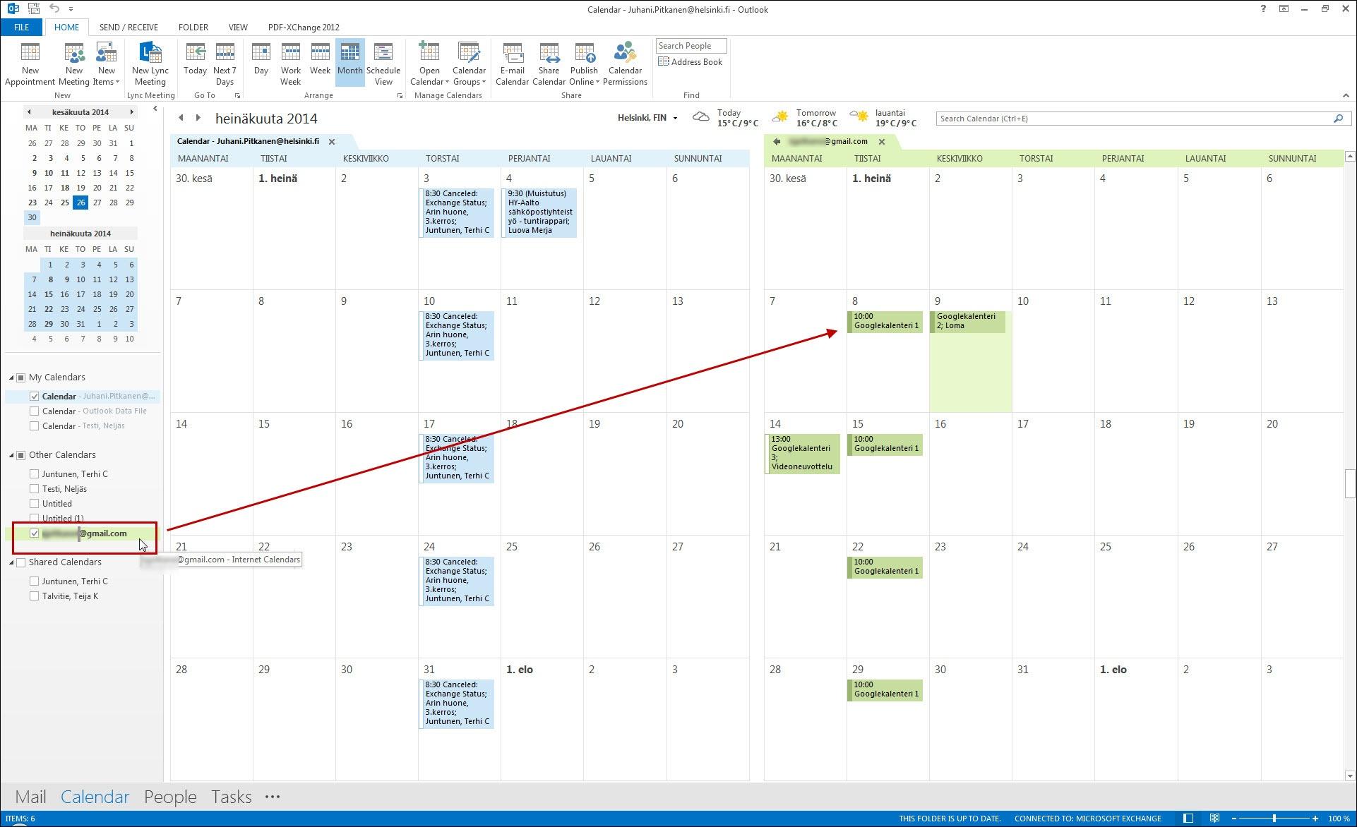 Google-kalenterin merkintöjen synkronoiminen Office 365 -kalenteriin | Helpdesk