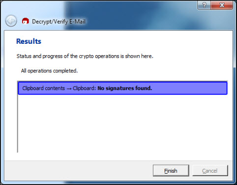GnuPG: Encrypting and signing on the clipboard | Helpdesk