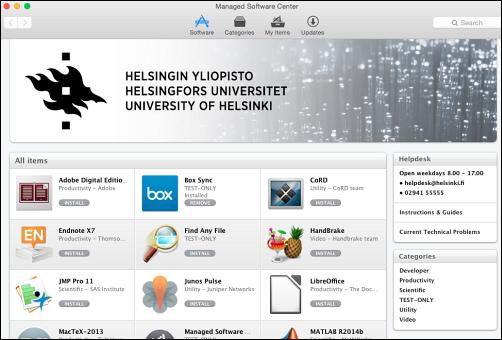 Installation of the university's Mac software | Helpdesk