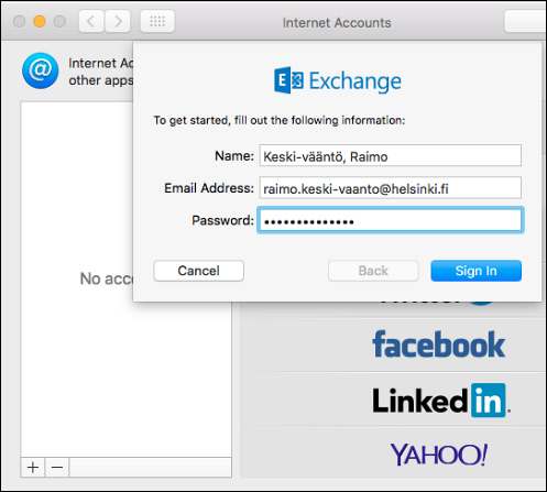 Office 365: Adding an account to Mac OS X Mail | Helpdesk