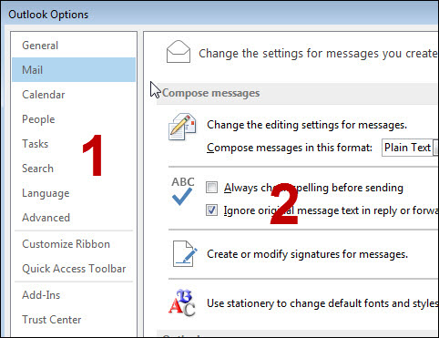 Outlook 2013: Settings | Helpdesk