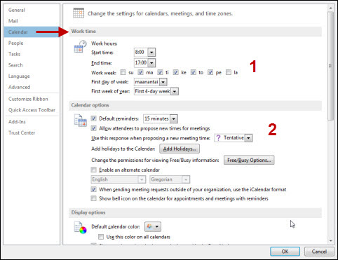 how to create a new calendar in outlook 2013