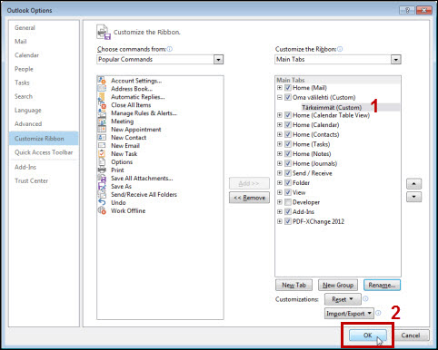 outlook 2013 settings helpdesk