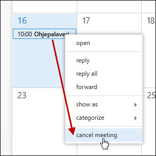OWA (Outlook Web App): Kalenteri | Helpdesk