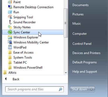 Tiedostojen synkronointi käsin (Windows 7) | Helpdesk