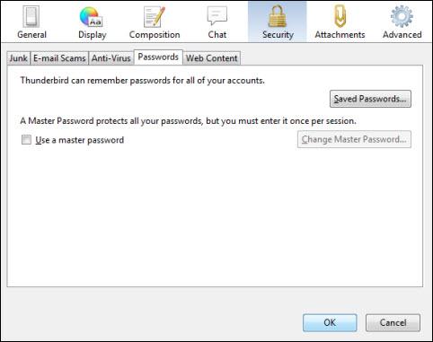 Deleting password in Thunderbird memory | Helpdesk